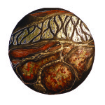 Layers of Hope -gold-terracotta round